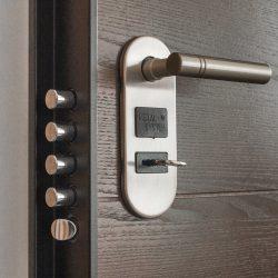 Входна врата със защитен механизъм