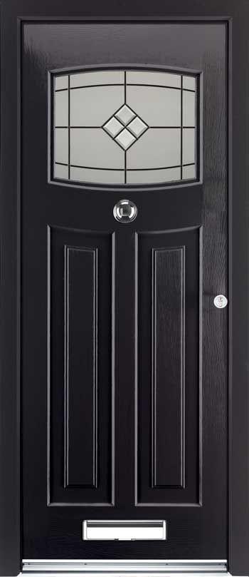 Черна Блиндирана Входна Врата 11 2020