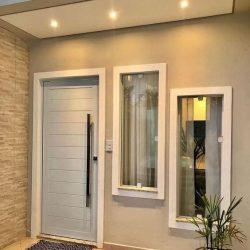 Бяла Блиндирана Врата за къща