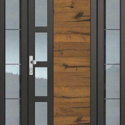 Входна врата с поверително стъкло